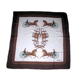 Céline-Silk scarves-Brown