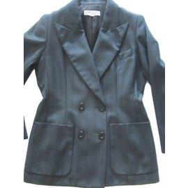 Yves Saint Laurent-Tailleur jupe YSL Vintage-Gris