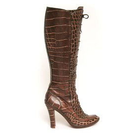 Céline-Boots-Brown