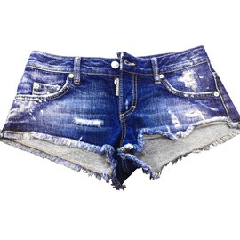 Dsquared2-Shorts-Bleu