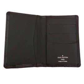 Louis Vuitton-Wallets Small accessories-Black