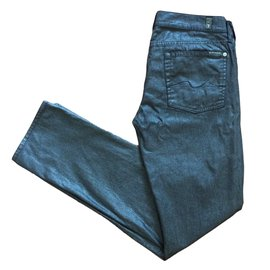 7 For All Mankind-Jeans-Metallic