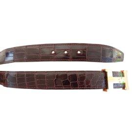 Hermès-Belts-Dark red