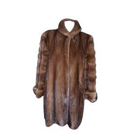 Yves Salomon-Coats, Outerwear-Chestnut