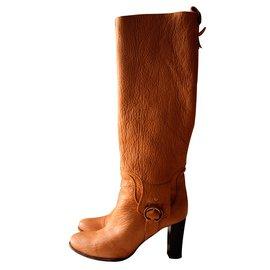 Céline-Boots-Caramel