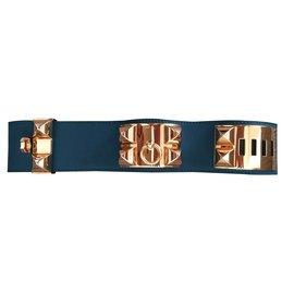 Hermès-collier de chien-Bleu