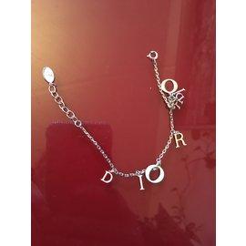 Dior-Bracelet a breloques-Argenté