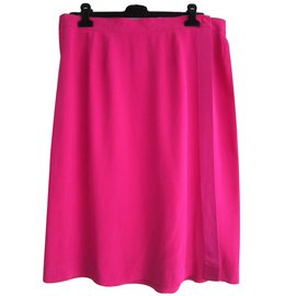 Yves Saint Laurent-Skirts-Pink