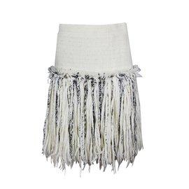 Chanel-Jupe tweed-Écru