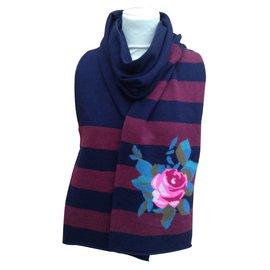 85a0b629a070 ... Kenzo-Echarpe laine-Multicolore
