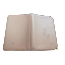 Yves Saint Laurent-Portefeuille-Beige