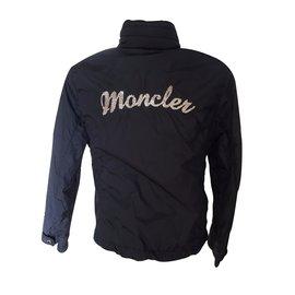 Moncler-Veste imperméable-Bleu