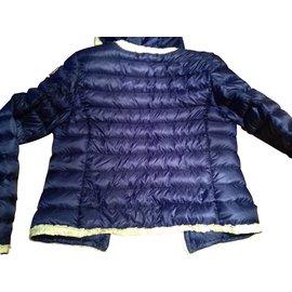 Moncler-Blousons, manteaux filles-Bleu