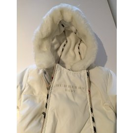Burberry-One piece Jacket-White