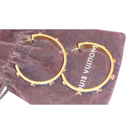 Louis Vuitton-Earrings-Golden
