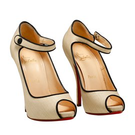 Christian Louboutin-2 tons T37.5 neuf-Beige