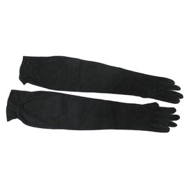 Hermès-Gants longs-Noir