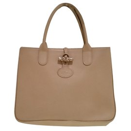 Longchamp-Sac à main-Beige
