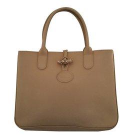 Longchamp-Sac à main-Beige