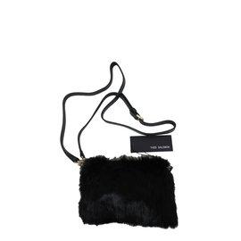 Yves Salomon-Sac fourrure-Noir