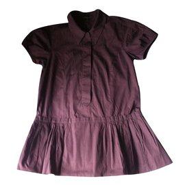 Louis Vuitton-Robe-Marron