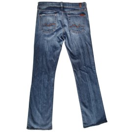 7 For All Mankind-Jeans-Blue