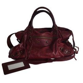 Balenciaga-Handbags-Dark red
