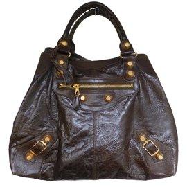 Balenciaga-Handbags-Brown