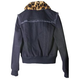 Louis Vuitton-Veste col vison-Noir
