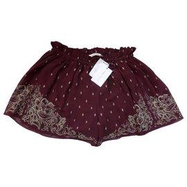 Isabel Marant Etoile-Shorts-Dark red