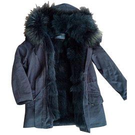 Yves Salomon-Coats, Outerwear-Blue