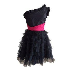 Red Valentino-Dresses-Black