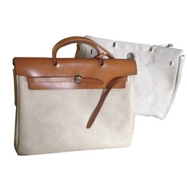 Hermès-Handbags-Beige