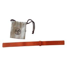Hermès-Bracelet montre Barenia-Orange
