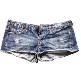 Maje-Shorts-Blue