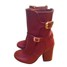 Zadig & Voltaire-Ankle Boots-Dark red