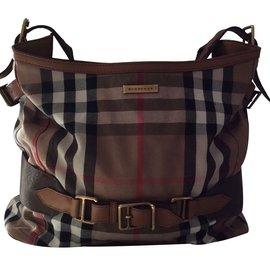 Burberry-Handbags-Brown