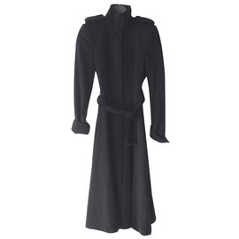 Yves Saint Laurent-Long Manteau Yves Saint Laurent-Noir