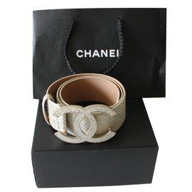 Chanel-Belts-Beige