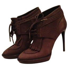 Burberry-Ankle Boots-Brown