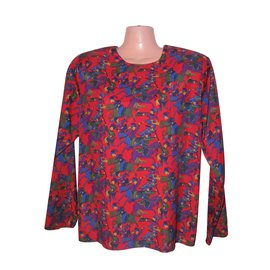Yves Saint Laurent-Blouse tunique-Multicolore