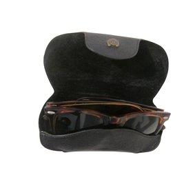 Hermès-Etui à lunettes vintage-Noir
