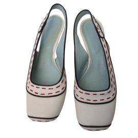 Bottega Veneta-Heels-White