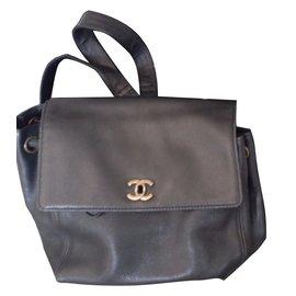 Chanel-sac à dos-Noir