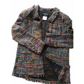 Chanel-tailleur jupe-Multicolore