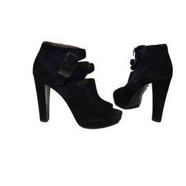 Hermès-Bottes, bottines-Noir