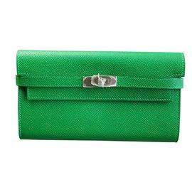 Hermès-portefeuille KELLY-Vert