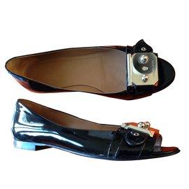 Hermès-ballerines hermes-Noir