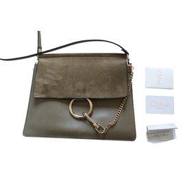 Chloé-Handbags-Khaki