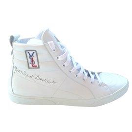 Yves Saint Laurent-Baskets-Blanc